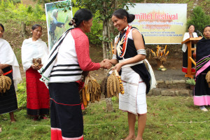A seed exchange ceremony between the farmers marked the harmonious spirit of sharing, typical of the farming communities, a beautiful symbolic ritual.